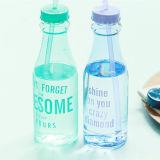 [650مل] غير قابل للكسر [وتر بوتّل] [سبورتس] [بورتبل] زجاجة مع تبن بلاستيك فنجان