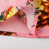 Disegni hawaiani superiori della camicetta del collo del crogiolo di camicetta delle ultime ragazze di disegno