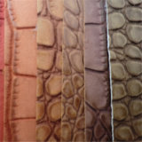 袋の椅子の装飾のための明るいカラーワニPVC革