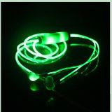 Construit dans l'éclairage de microphone dans l'écouteur MP3 lumineux d'oreille (K-788)