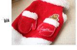 Gingerbread Man Christmas Red Warm Croal Fleece Manteau de chien