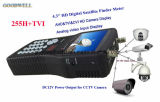 "4.3 ""Prise en charge du Finder Satellite par Handheld Support Appareil photo CCTV Ahd + Tvi + Cvi"