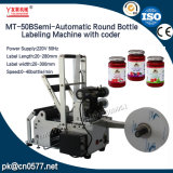Máquina de etiquetado semiautomática de la botella redonda con el codificador (MT-50B)