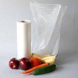 Sacchetto di plastica dei prodotti sul sacchetto dell'alimento della radura della drogheria del pane del rullo