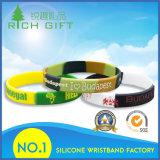 Commerce de gros logo gravé personnalisé de l'impression couleur mixte Bracelet Bracelet en silicone