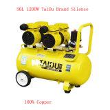 50L 2X600W 4 Zylinder-ölfreie Schrauben-Luftverdichter-Pumpe