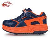 Außenhandel-Rollen-Schuhe mit einziehbarem hellem Rollen-Rochen der Rad-Form-LED bereift Turnschuh-Sport mit PU ledernem preiswertem