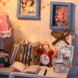 Chambre de poupée de fantaisie de manoir de type d'horloge