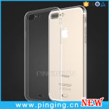 Capa macia de silicone Ultra fino e fino de cristal transparente para iPhone 7