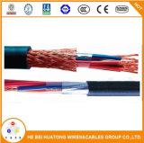 Cable mencionado del Tc del control del blindaje de la trenza del alambre de cobre de la UL