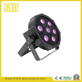 7PCS ** 10W 3in1 LED plana PAR Luz para interior