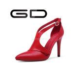 Talón fino estival modificado para requisitos particulares fábrica de las señoras con estilo de Gdshoe el alto bombea los zapatos