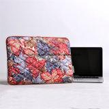 El bolso portable de la computadora portátil joven del estilo, fábrica hace la cartera superficial llena de encargo de la funda de la computadora portátil de la impresión