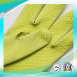 Очищая перчатки латекса работы анти- кисловочные с высоким качеством