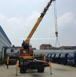 Dongfeng 4X2の望遠鏡クレーンはトラック10トンのに貨物取付けた