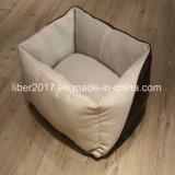 Assestamento caldo di cuoio del sofà del gatto della base del cane dell'unità di elaborazione del prodotto dell'animale domestico