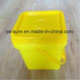 ハンドルが付いているPP/HDPEの食品等級の正方形のプラスチックバケツ2L