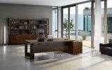 Móveis de escritório de madeira retangular em forma de L Mesa moderna mesa de mesa executiva (HF-01D28)