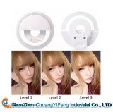 Selfie Portable LED Camera Téléphone Photographie Sonnerie Amélioration de la Photographie pour Smartphone iPhone Samsung Rose Blanc Noir Bleu