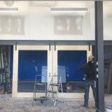 Porte coulissante en verre dépoli décoratifs porte de la salle de conférence à la vente