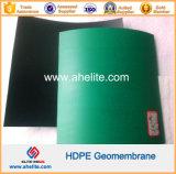 Polietileno negro brillante de un lado de un lado verde Geomembrana HDPE