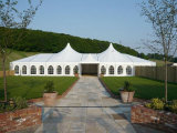500の人のイベントの透過塔党テントと結婚する大きい玄関ひさし