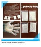 Freier Plastikwegwerfhandschuh 1 Paar-/Beutel
