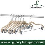 Samt-Hosen Hange mit Chrom-Klipps/rutschfester Kleid-Fußleisten-Zahnstange