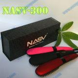 Escova do Straightener do cabelo do LCD da qualidade superior de Nasv