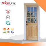 中国の安いガラスによってパネルをはめられる固体ドア