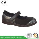 Graceorthoの健康はLeather+Stretchableファブリックが付いている女性の糖尿病性の靴に蹄鉄を打つ