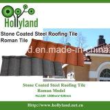 Telha de telhado do metal com as microplaquetas de pedra coloridas (romanas)