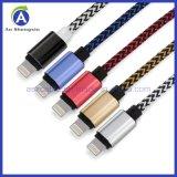 Banheira de vender o tecido de nylon de cabo USB de 8 Pinos para iPhone