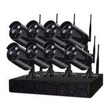 обеспеченность NVR CCTV пули 8CH 2.0MP WiFi самонаводит набор камеры