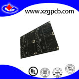 PCB 4 capas de máscara de soldadura con negro y oro químico