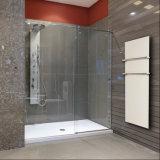 6mm 8 mm de verre trempé clair pour porte de douche fixe ou coulissante