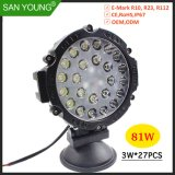81W LED LED de luz LED de farol de trabalho em andamento local de feixe de inundação de luz de cruzamento