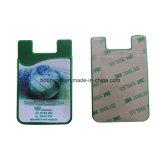 Identificazione Card Holder di Sticky del silicone per Mobile Phone Accessories