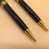 Diseño clásico Engarve láser bolígrafo Bolígrafo de metal negro