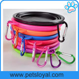 Accessoires compressibles d'animal familier de cuvette de crabot de câble d'alimentation d'animal familier de silicones
