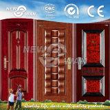 鋼鉄ドアの単一の葉のドアによって冷間圧延される鋼鉄機密保護のドア(NSD-1006)