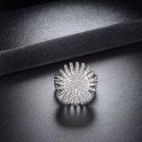 De nieuwe Model In het groot Zilveren Trouwring van de Juwelen van de Kleur