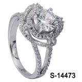 14k het goud plateerde de Echte Zilveren Ring van Juwelen