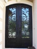 Doppio portello d'acciaio su ordinazione esterno del ferro con vetro