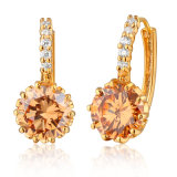 Ladies copilot by material CZ gold Plated Fashion Earring