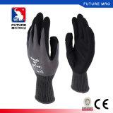 Нейлоновые резиновые 2-слойные покрытие нитриловые перчатки для масла и устойчивы к царапинам