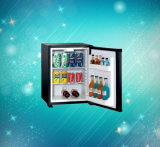 ブラックメタルフレームとコンパクトな業務用シングルドア冷蔵庫