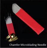 Одноразовые иглы Microblading с фаской из нержавеющей стали с 15 контактами для подравнивания бровей ручной Tattoo