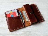 عبقريّة جلد محفظة [منس] [مينيمليست] بطاقة سفر حقيبة