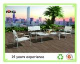معدنة حديقة ثبت أريكة مع متّكأ بلاستيكيّة خشبيّ